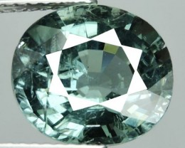 private auction 4.50 ct Exciting Oval Natural Green Blue Tourmaline-Extreme