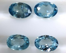 2.60 CTS BLUE ZIRCON FACETED STONE CG-2031