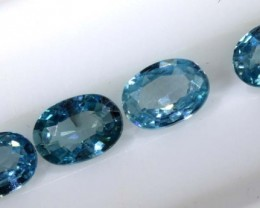 2.45 CTS BLUE ZIRCON FACETED STONE CG-2032