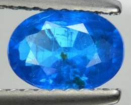Natura Neon Blue Apatite Oval CUt Brazil Gem 0.95 Cs