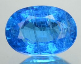 Natura Neon Blue Apatite Oval Cut Brazil Gem 0.73 Cts