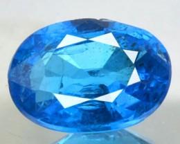 Natural Neon Blue Apatite Ova Faceted Brazil Gem 0.72 Cts