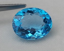 5.27cts, Electric Blue Topaz,