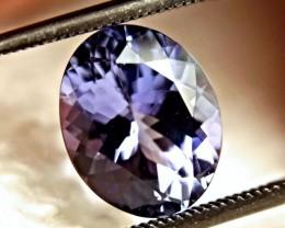 CERTIFIED - 4.18 Carat IF/VVS1 Purplish Blue Tanzanite