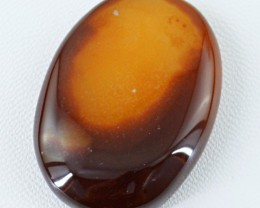 Genuine 90.35 Cts Orange Onyx Oval Shaped Cab