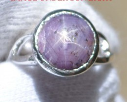 Star Ruby 925 Sterling Silver Ring US Size 7.25 J322