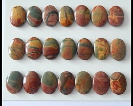 21 PCS Natural Multi Color Picasso Jasper Cabochons Parcel