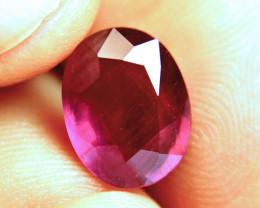 6.74 Carat Fiery Purplish Red Ruby - Superb