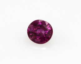 0.51cts Natural Burma Ruby Round Cut