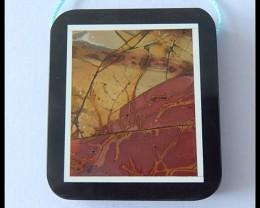 89.5Cts Natural Multi Color Picasso Jasper Pendant Bead(B1804232)