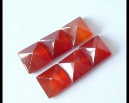 6PCS Red Agate Gemstone Pyramids,9.5cts
