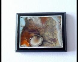 31.5Cts Natural Agate ,Chohua Jasper,Obsidian Intarsia Cabochon
