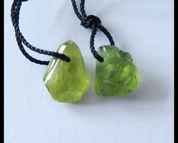 6.5cts Natural Peridot Gemstone Earring Beads