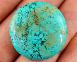 Genuine 34.95 Cts Turquoise Round Shaped Cab