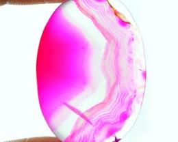 Genuine 52.05 Cts Pink Onyx Oval Shaped Cab