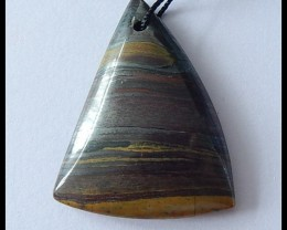 57.5Cts Natural Tiger Eye Pendant Bead