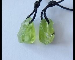 8cts Natural Peridot Gemstone Earring Beads(A1825)