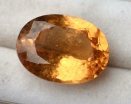9.94 Carat Fantastic Oval Cut Golden Hessonite Garnet
