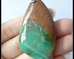 69.5Cts Natural Chrysoprase Gemstone Pendant Bead