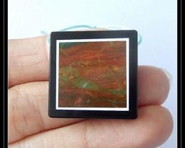 43.5cts Natural Jasper,Obsidian Intarsia Pendant Bead(B1804201)