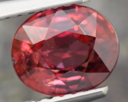 2.50ct ~NATURAL PEACH PINK COLOR OVAL CUT ZIRCON GEMSTONE