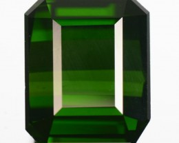 Beautiful 7.48 Cts Natural Neon Green Tourmaline Octagon Cut Nigerian Gem