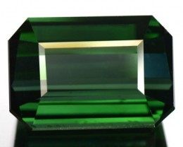 5.24 Cts Natural Green Tourmaline Octagon Cut Nigerian Gem