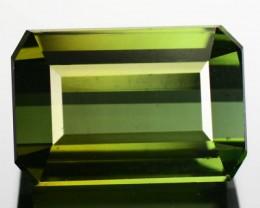 6.06 Cts Natural Neon Green Tourmaline Octagon Faceted Nigerian Gem