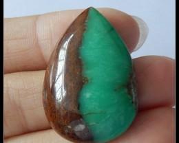 36.5Cts Natural Chrysoprase Gemstone Cabochon