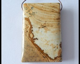 120cts Natural Picture Jasper Pendant Bead