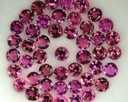 5.05 Cts Natural Rubelite Pink Tourmaline Round 3.00mm Parcel