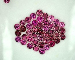 5.00 Cts Raspberry Pink Natural Rubelite Pink Tourmaline Round 3.00 mm Parc