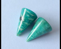 26Cts Spiker Amazonite Gemstone Pair(B1804379)
