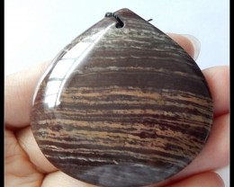 134.5Cts Natural Wood Fossil Pendant Bead