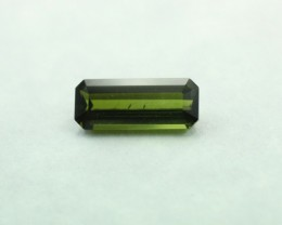 TOURMALINE GREEN  LONG EMERALD CUT