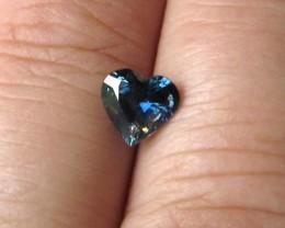 1.34cts Natural Australian Blue Sapphire Heart Shape