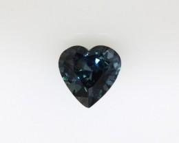 1.40cts Natural Australian Blue Sapphire Heart Cut
