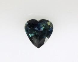 1.14cts Natural Australian Blue Sapphire Heart Cut