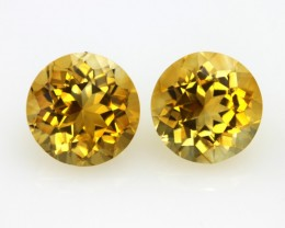 7.01cts Golden Yellow Citrine Matching Round Shape