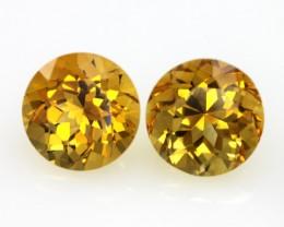 7.64cts Golden Yellow Citrine Matching Round Shape