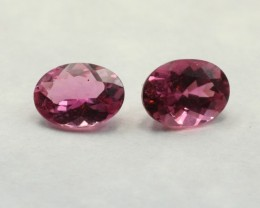 PINK TOURMALINE OVAL SHAPED PAIR