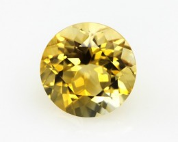 3.42cts Golden Yellow Citrine Round Shape