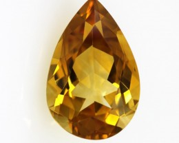 5.25cts Golden Yellow Citrine Pear Shape