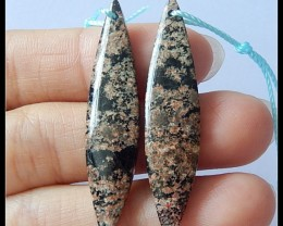 22cts Natural Snow Obsidian Earring Beads(A1831)