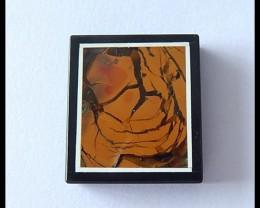 39.5Cts Natural Jasper,Obsidian Intarsia Pendant Bead