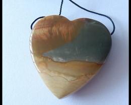 119Cts Natural Ocean Jasper Heart Pendant  Bead