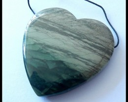 132CT Natural Wave Jasper Heart Pendant Bead,Healing Gemstone