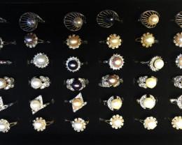 Parcel Deal 36 Pearl Rings PPP100