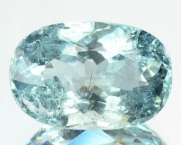 4.95 Cts Natural Blue Aquamarine Cushion Cut Brazil Gem