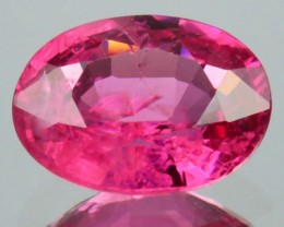 1.20 Cts Natural Red Spinel Oval Faceted Burmese Gem
